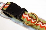 RECYCLED POLYESTER DOG COLLAR GREEN