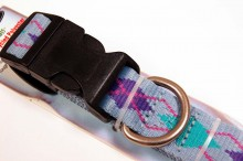 RECYCLED POLYESTER DOG COLLAR BLUE