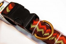 RECYCLED POLYESTER DOG COLLAR BROWN