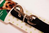 nylon dog leash black small