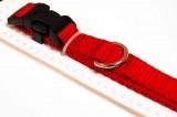 Nylon dog collar medium red