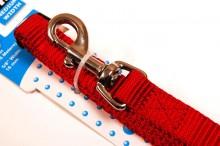 nylon dog leash red medium hangtag