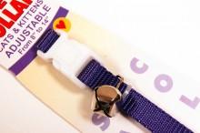 nylon cat collar purple with bell and breakaway