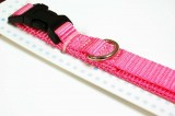 nylon dog collar medium pink
