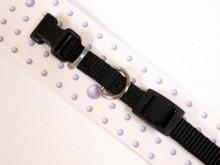 Black Nylon Dog Collar