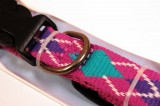 RECYCLED POLYESTER DOG COLLAR PINK