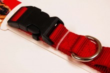 nylon dog collar large red