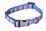 AC Jagged Pattern Recycled Polyester Webbing Dog Collar