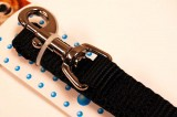 nylon dog leash black medium