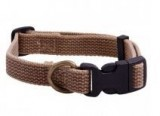 AC Dog Collar Brown Chambray Washed Cotton