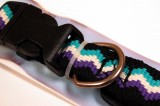 RECYCLED POLYESTER DOG COLLAR BLACK