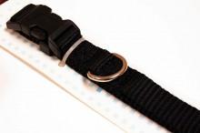 Nylon dog collar medium black