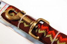 RECYCLED POLYESTER DOG LEASH BROWN