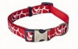 AC Rust/Natural Recycled Polyester Webbing Dog Collar with Print