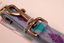 RECYCLED POLYESTER DOG LEASH BLUE