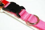 nylon dog collar pink large