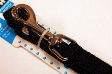nylon dog leash black medium
