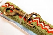 RECYCLED POLYESTER DOG LEASH GREEN
