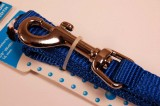 nylon dog leash royal blue medium