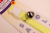 nylon cat collar yellow with bell and breakaway hangtag