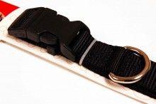 nylon dog collar large black