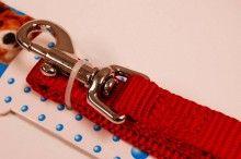 nylon dog leash red medium